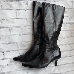 Pazzo heeled full zip up leather boots size 9.5